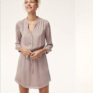 Aritzia 💯% silk Bennett Dress, XS